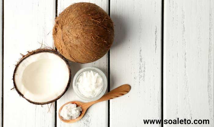 لایه برداری پوست برای داشتن پوستی روشن و شاداب و سالم و شفاف و درخشان ، پاکسازی پوست ، با استفاده از روغن نارگیل